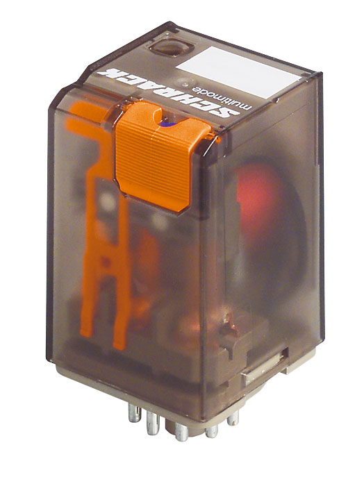 1 Stk Multimode-Relais, 2 Wechsler, 10A, 12VDC, 8polig, Serie MT MT221012--