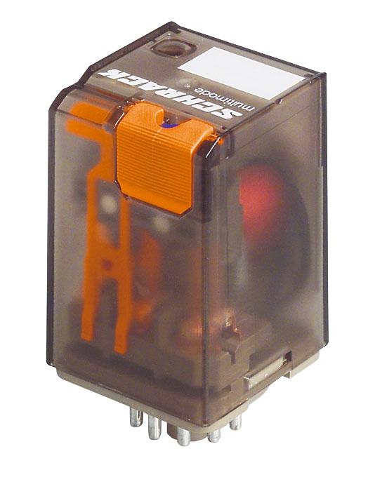 1 Stk Multimode-Relais, 3 Wechsler, 10A, 24VDC, 11polig, mit LED MT323024--