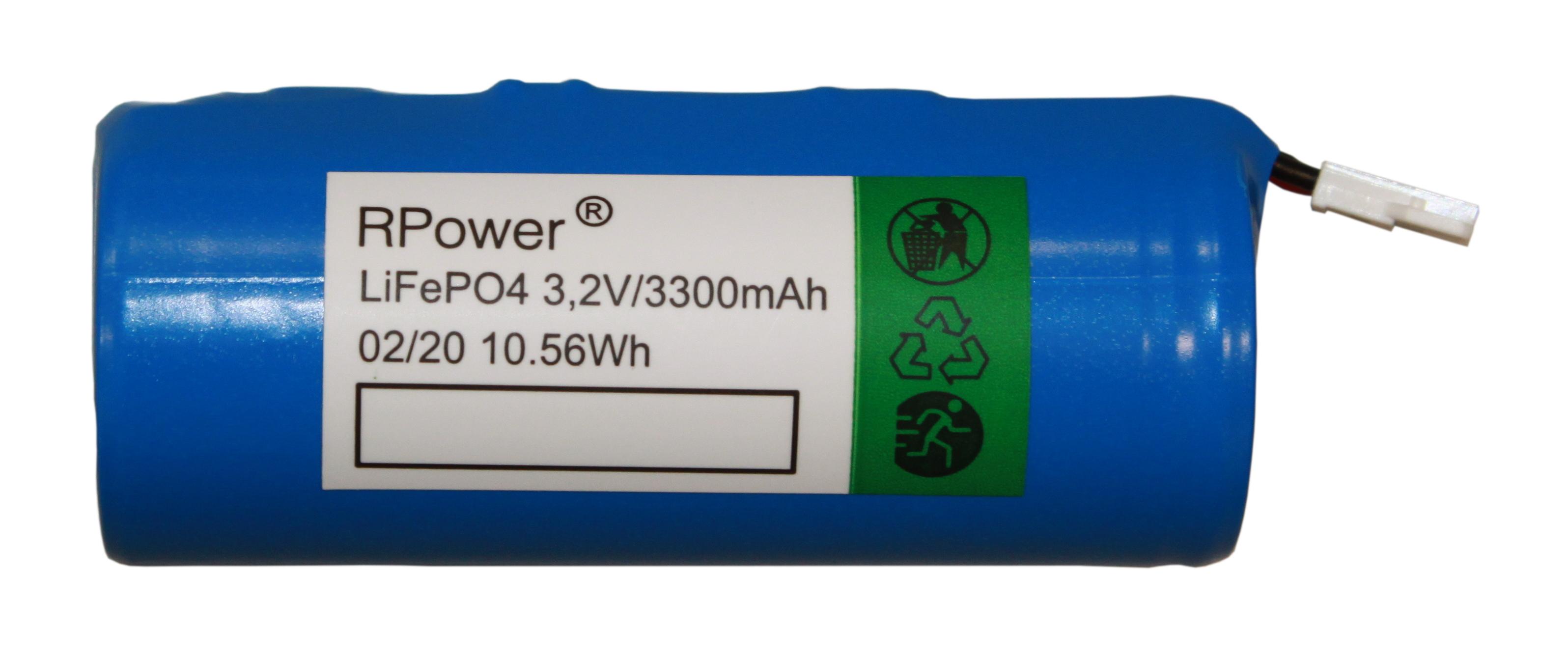 1 Stk Akku 3,2V 3,0Ah LiFePO4 für LED EB-Leuchte KSC, KMB, ZAW NLAKKU3230