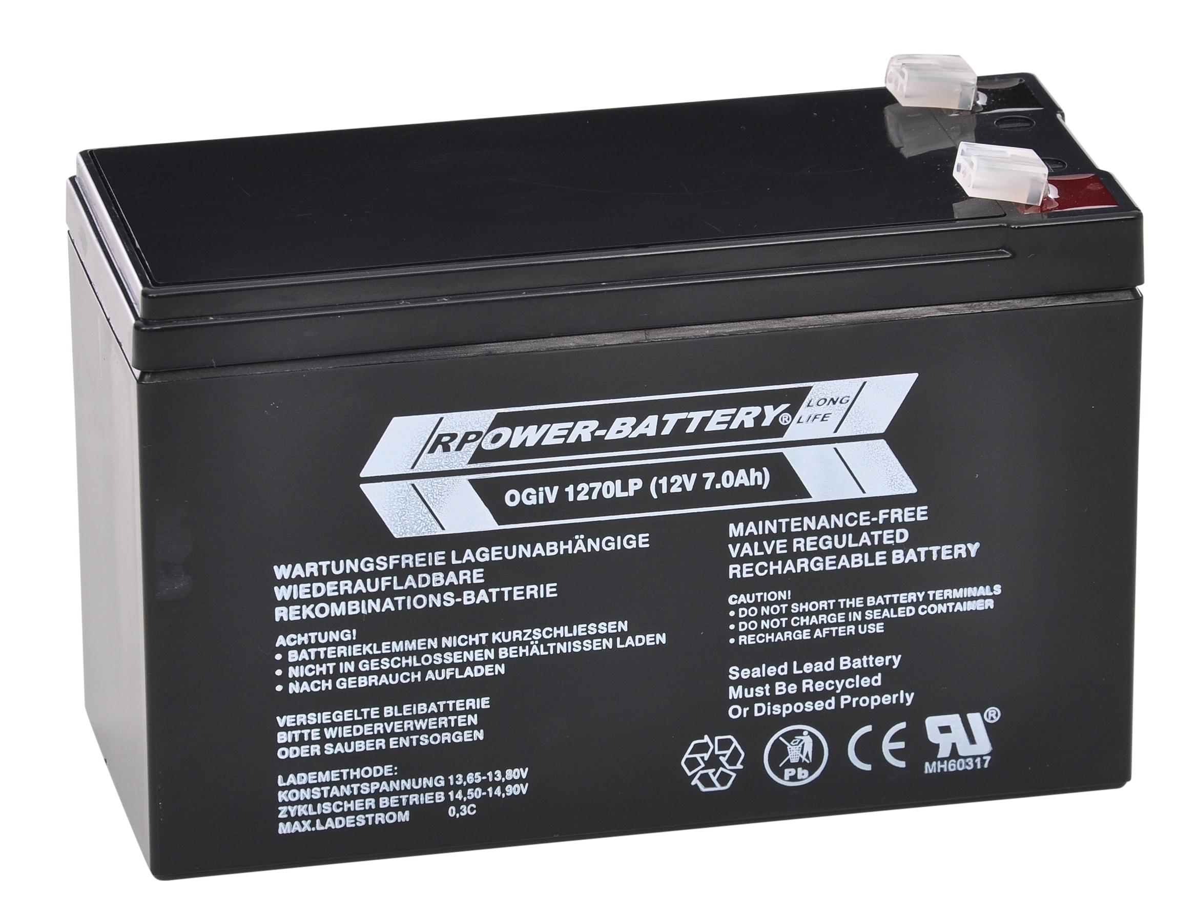 1 Stk Batterie RPower OGiV longlife 10-12 Jahre 12V/7,0Ah NLBA007L--