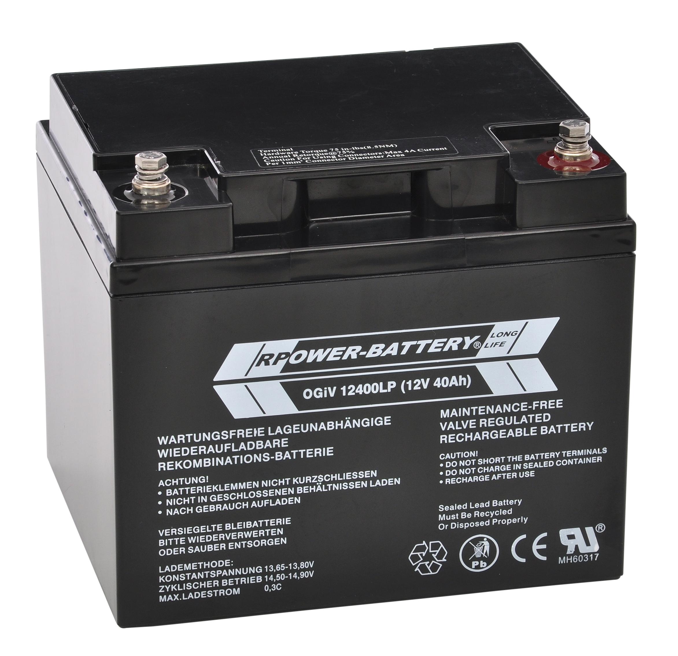 1 Stk Batterie RPower OGiV longlife 10-12 Jahre 12V/42Ah NLBA040---