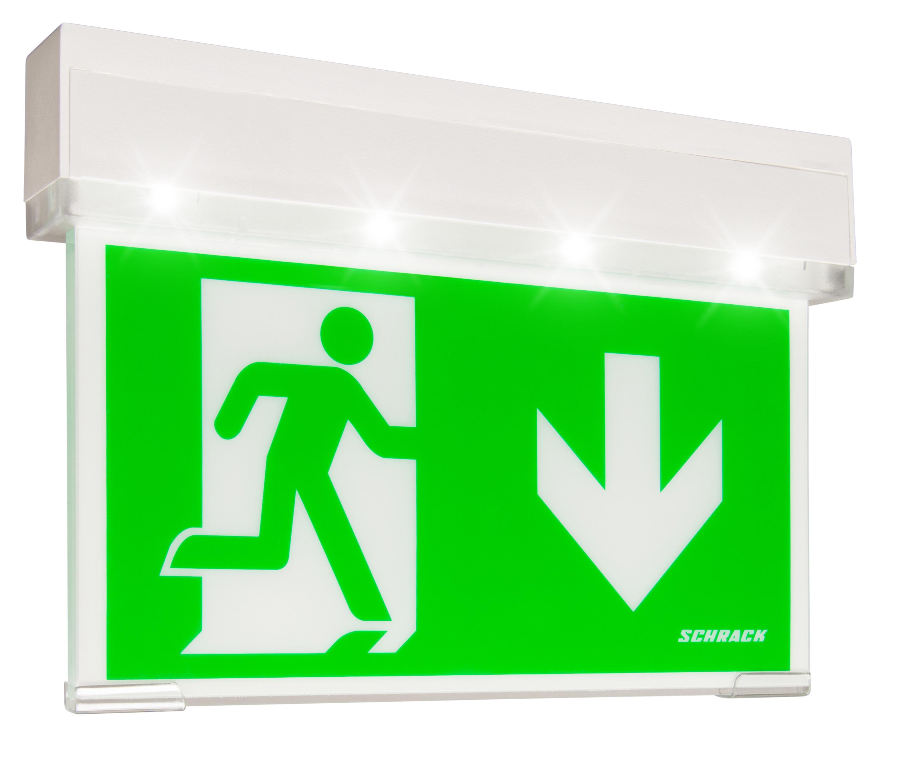 1 Stk Notleuchte KSC transparent Autotest LED 1-8h 230VAC NLKSC003SC