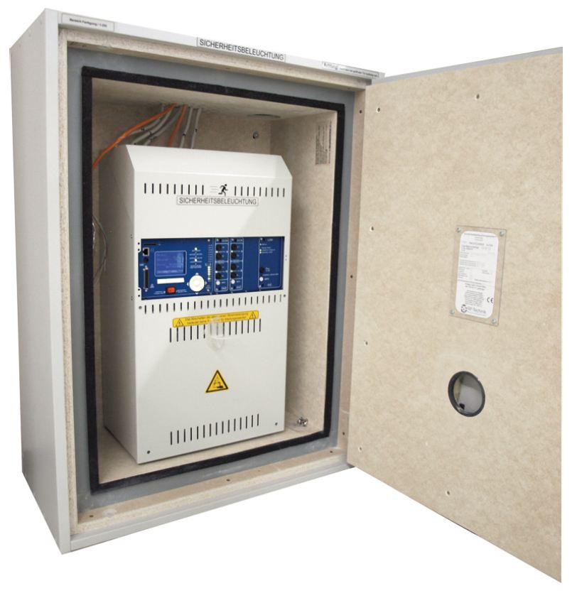 1 Stk E30 Schrank für Gruppenbatterieanlage MI mit Lüfter NLMIE30---