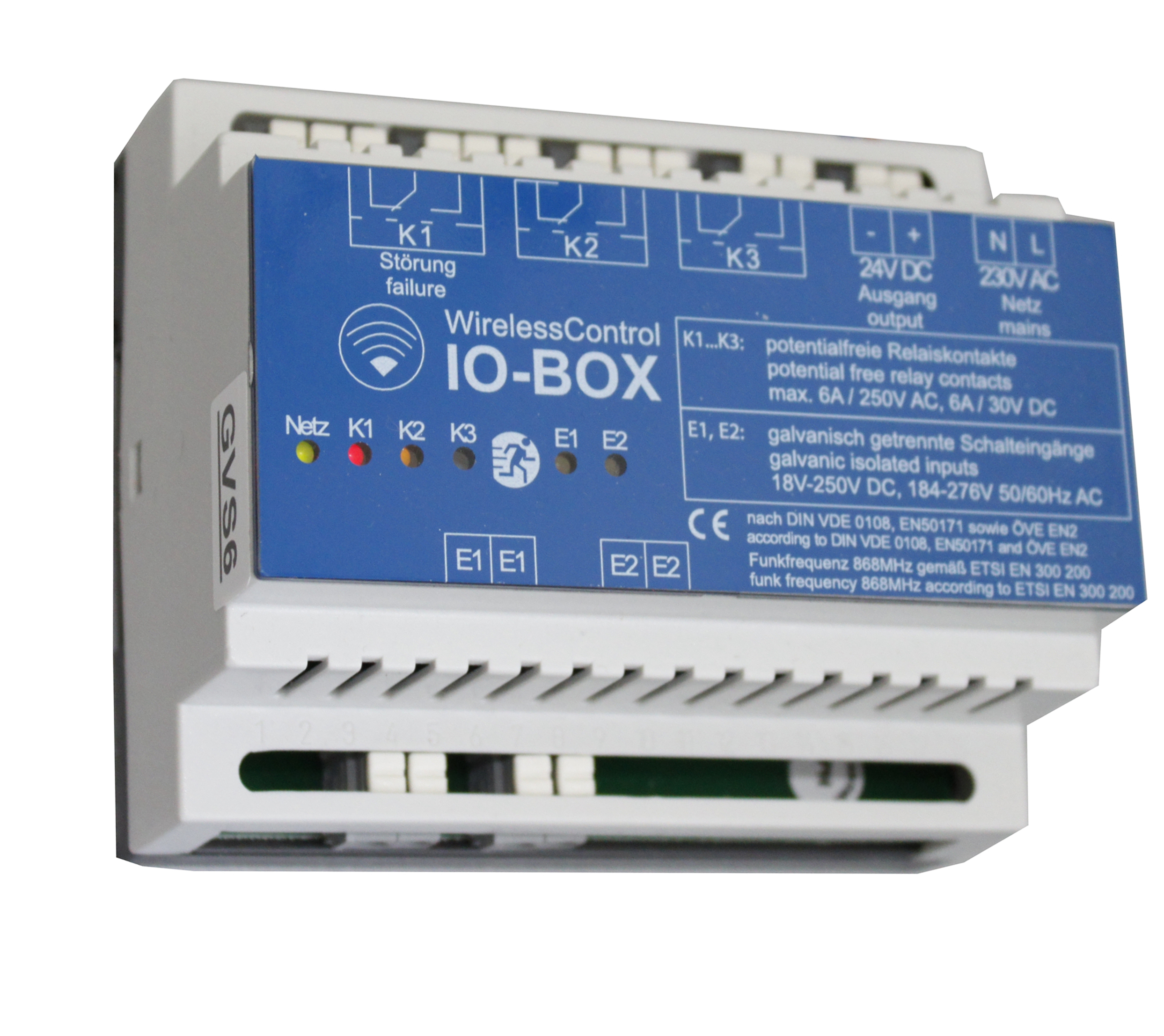 1 Stk WirelessControl I/O Box 2 Eingänge, 3 Ausgänge NLWLIO32--