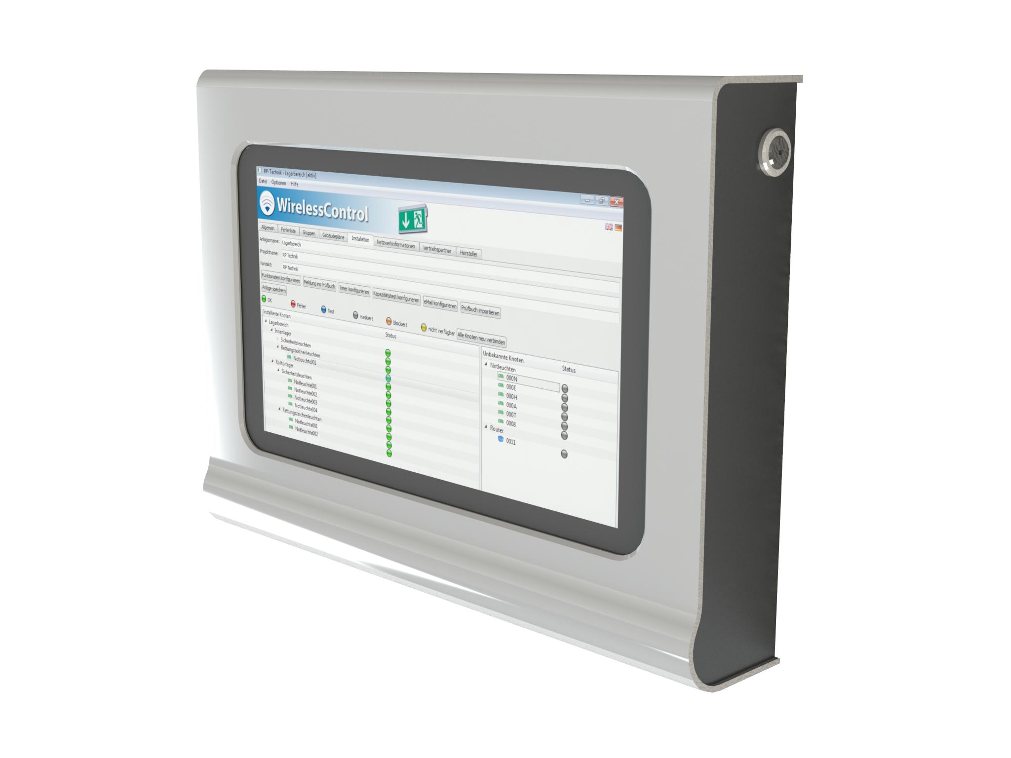 1 Stk Netbook Touch im Wandgehäuse inkl. WirelessControl Software NLWLTOUCHG