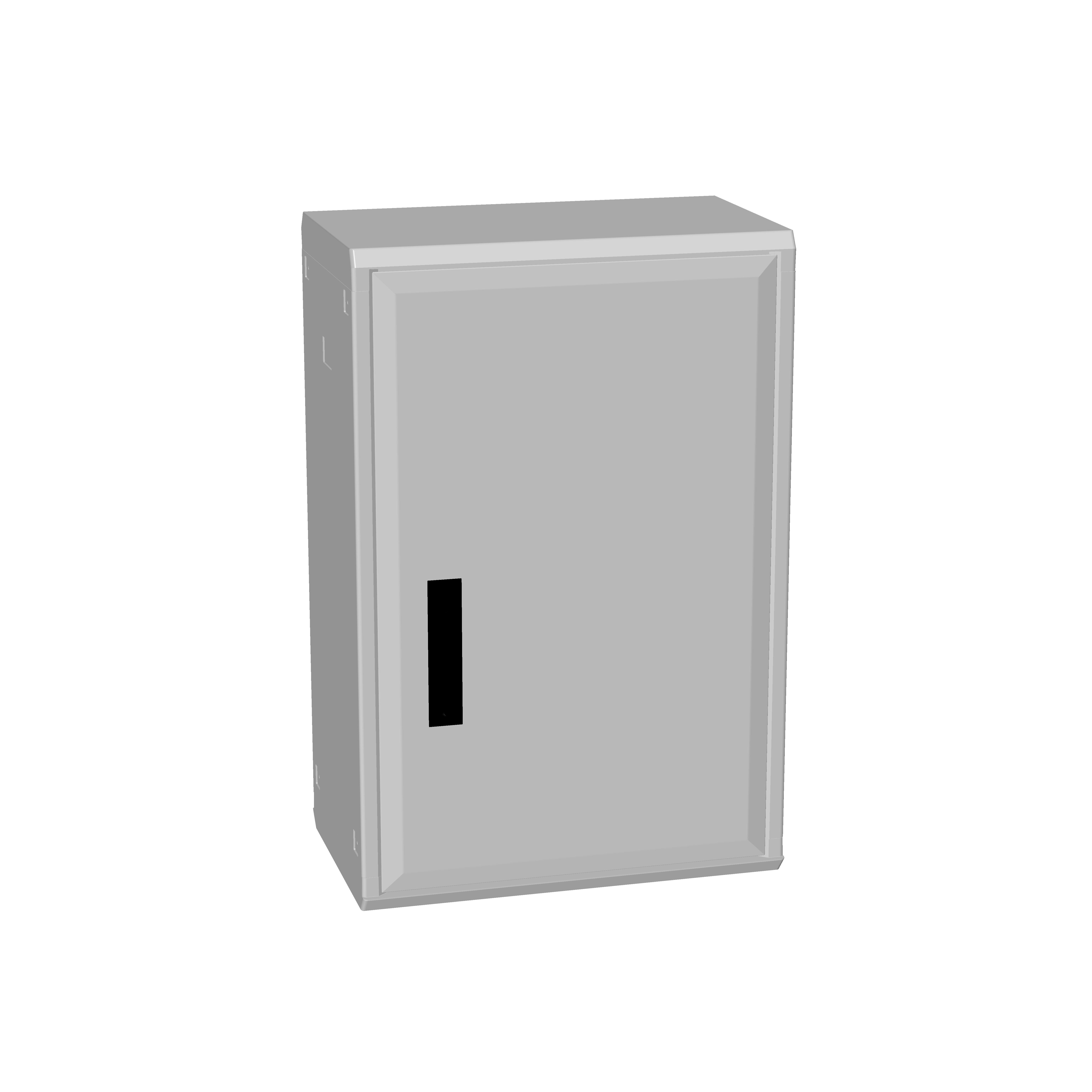 1 Stk Polyesterschrank, Boden offen, eintürig, 750x500x312 POCA3230--