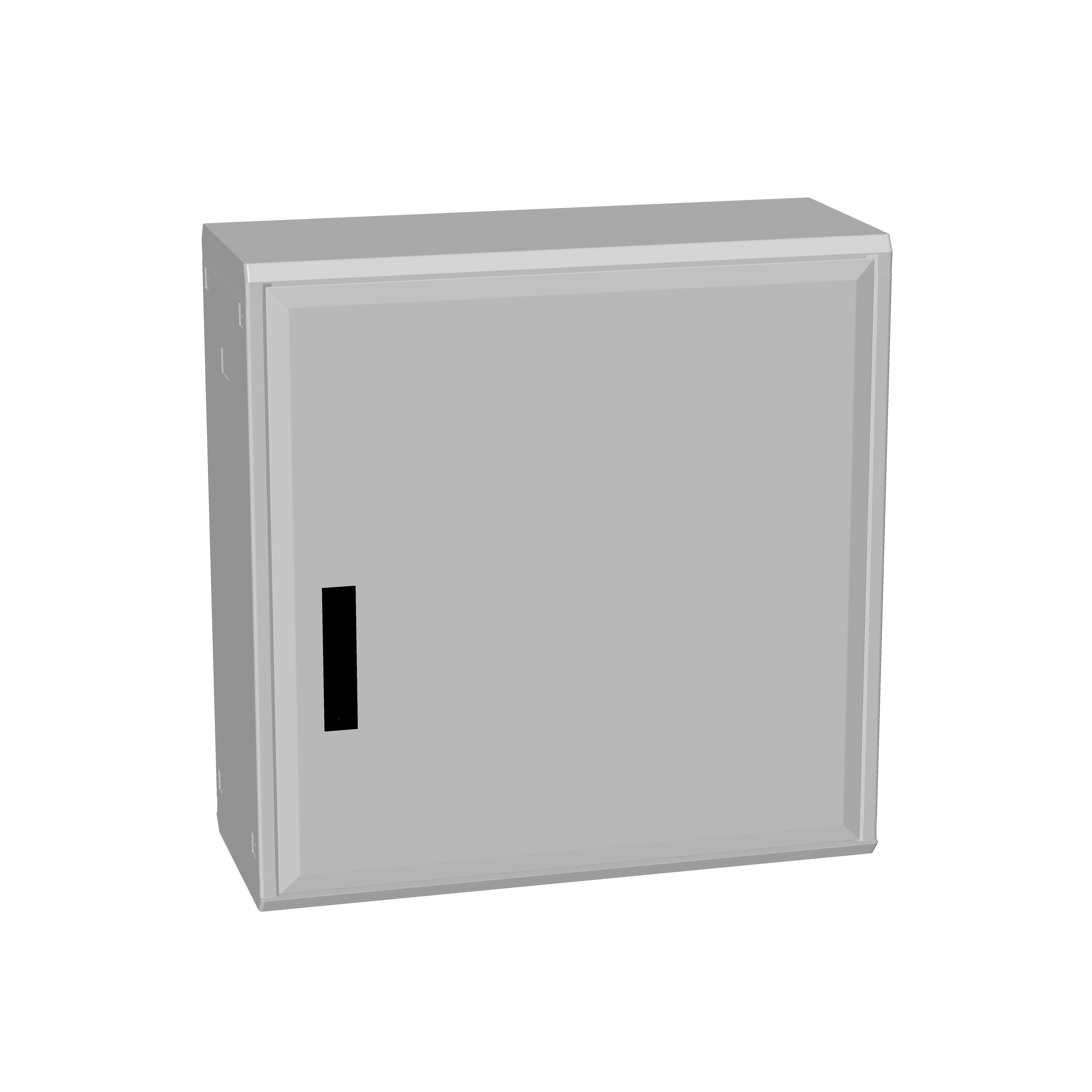 1 Stk Polyesterschrank, Boden offen, eintürig, 750x750x312 POCA3330--