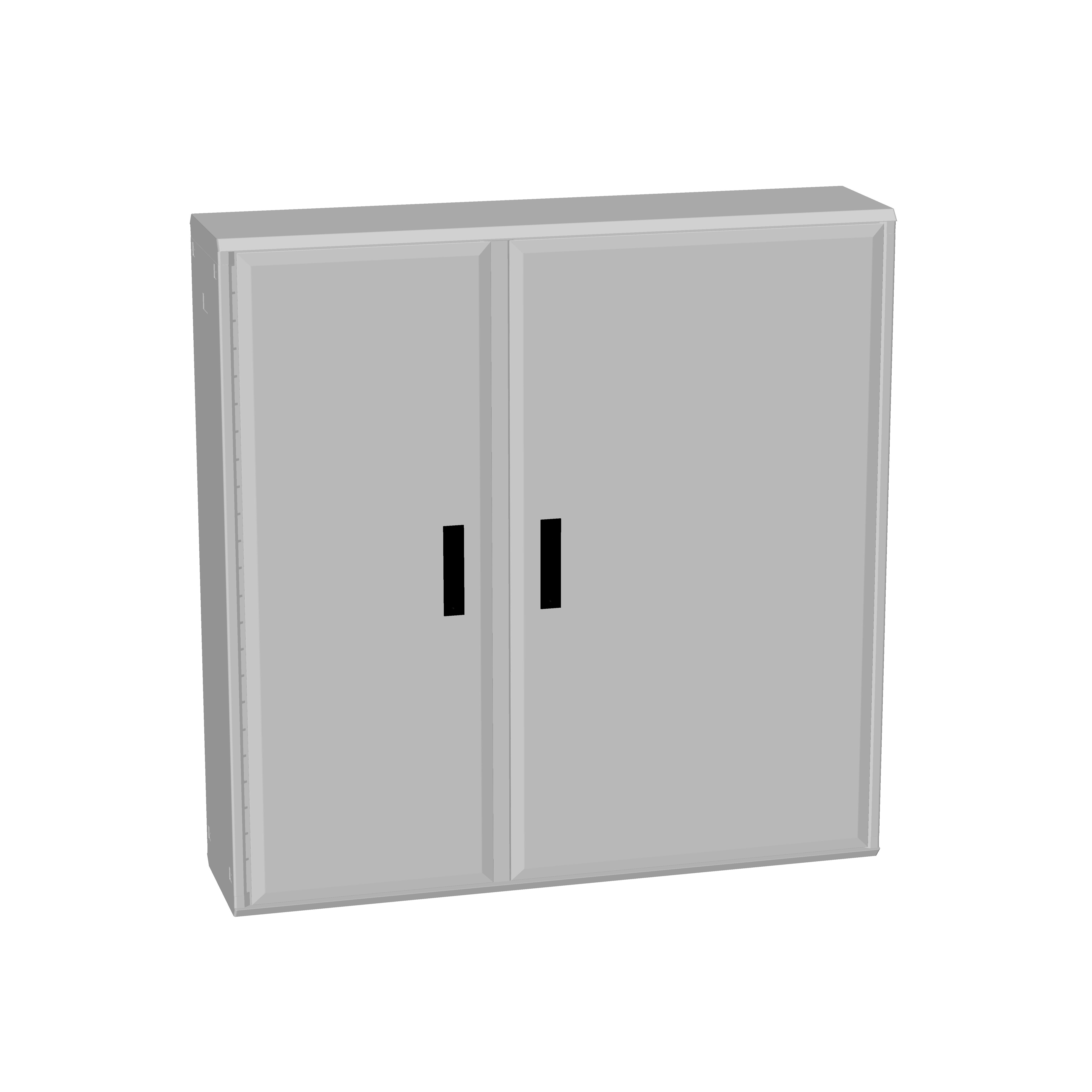 1 Stk Polyesterschrank, zweitürig assymetrisch, 1250x1250x312 POCC5535--
