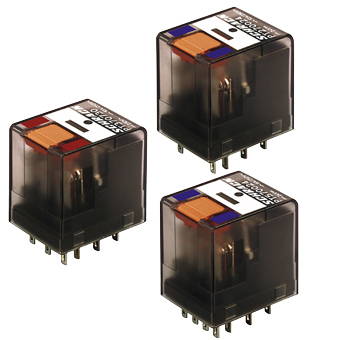 1 Stk Miniatur-Relais, 4 Wechsler, 6A, 110VDC, mit LED und FD PT570MB0--