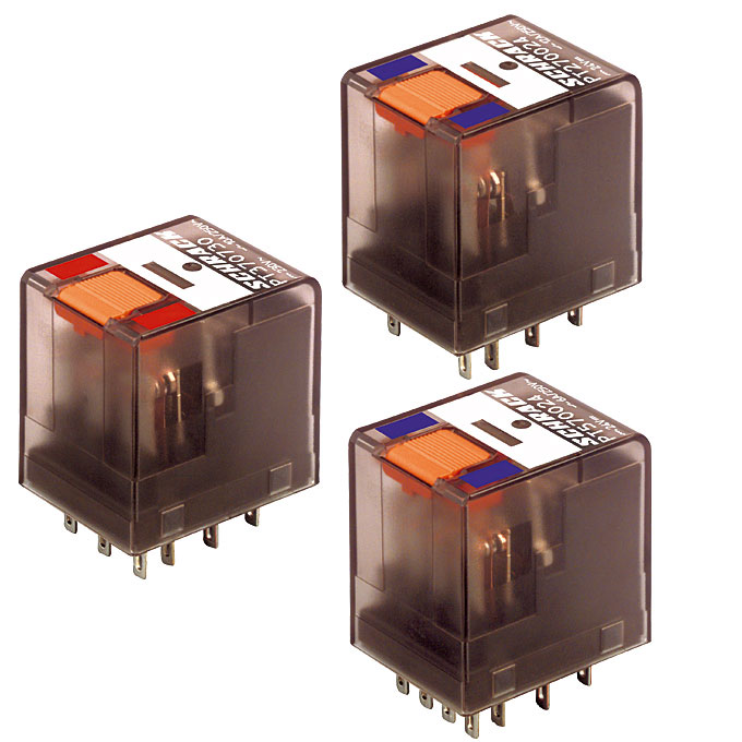 1 Stk Miniatur-Relais, 4 Wechsler, 6A, 24VAC, mit LED, Serie PT PT570R24--