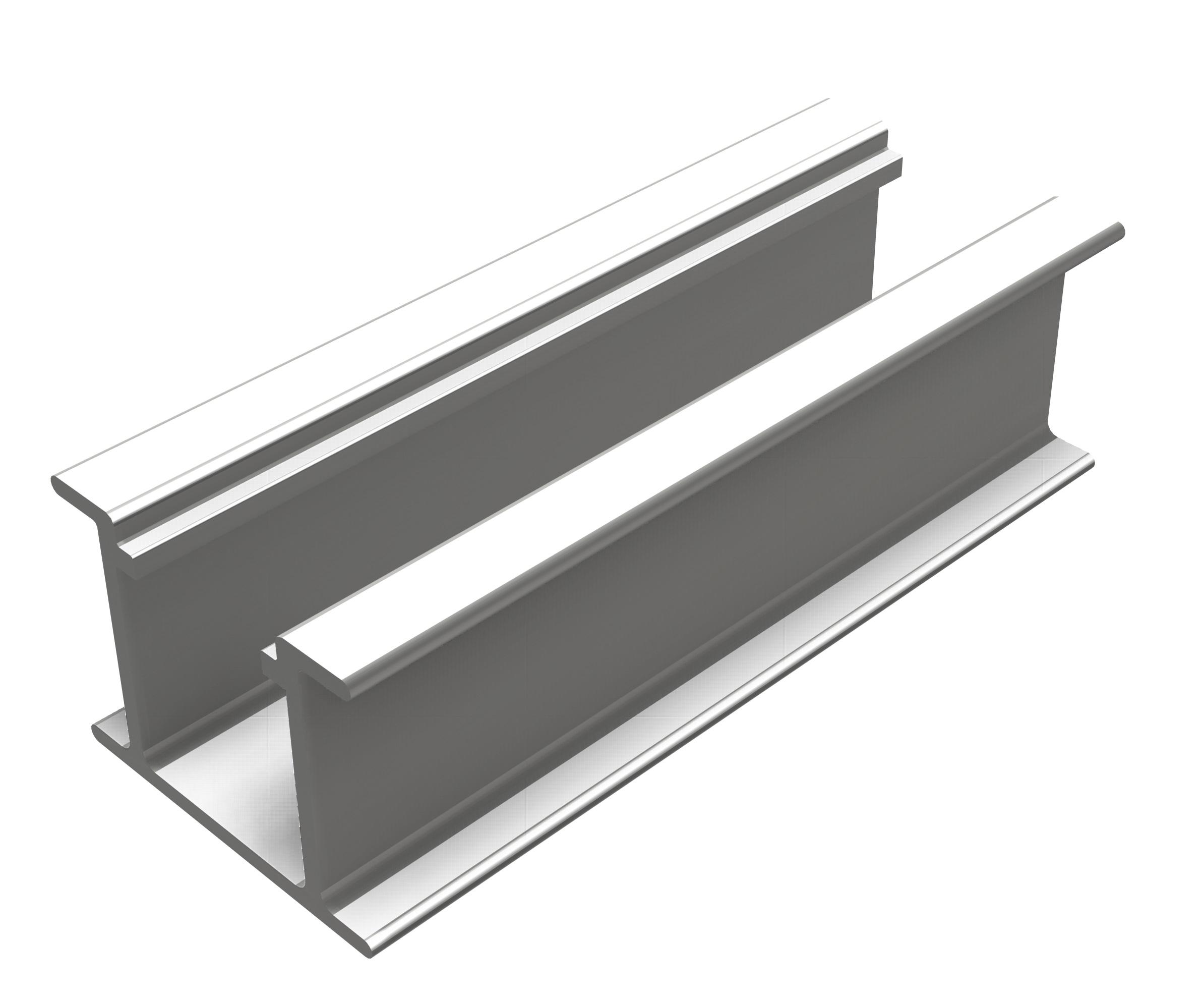 1 Stk Ultralight Kurzschienen Set Trapezdach PVF31110--