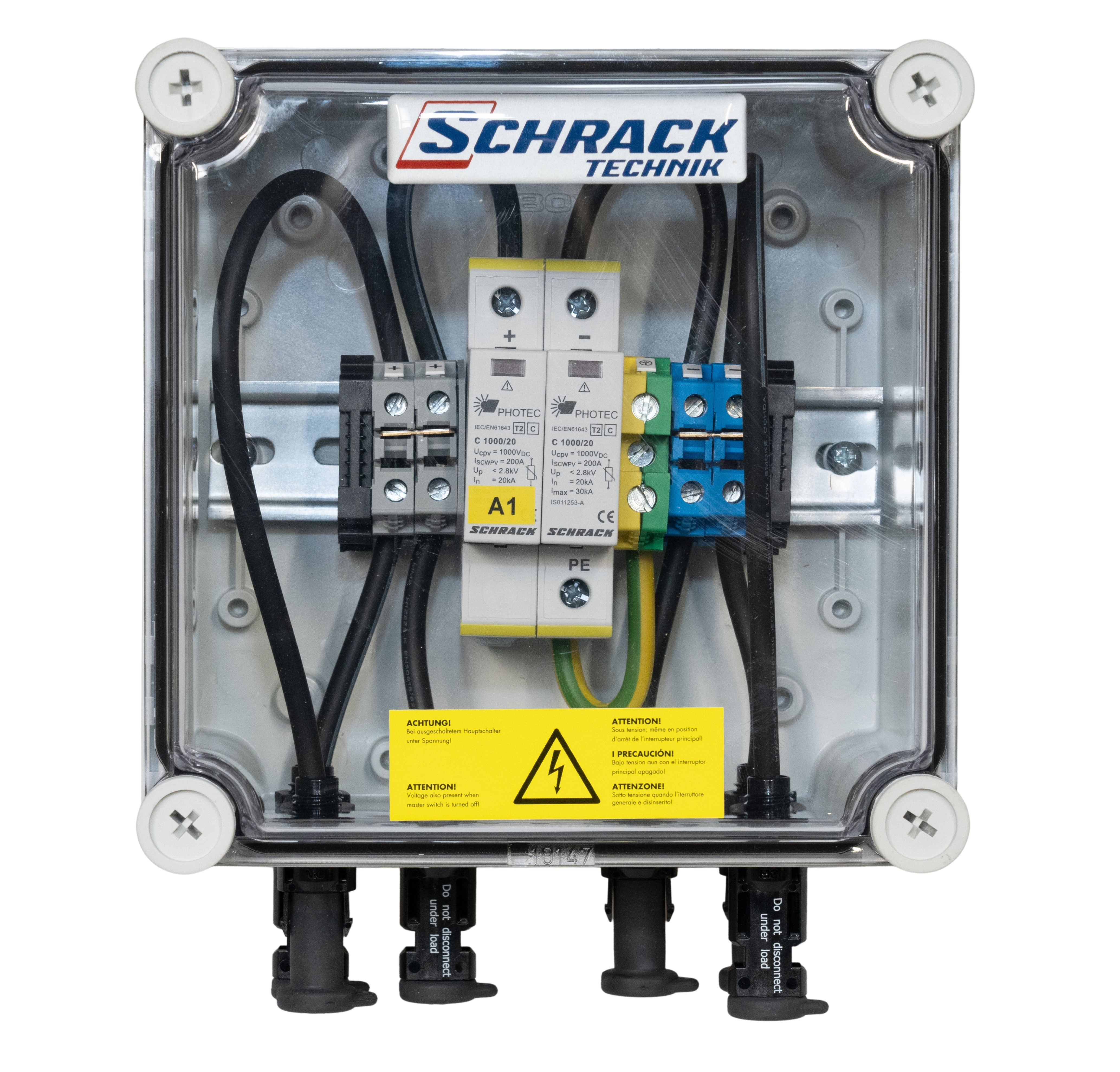1 Stk PV-Überspannungsableiterbox für 1 Mpp Tracker, 1000Vdc PVP15001--