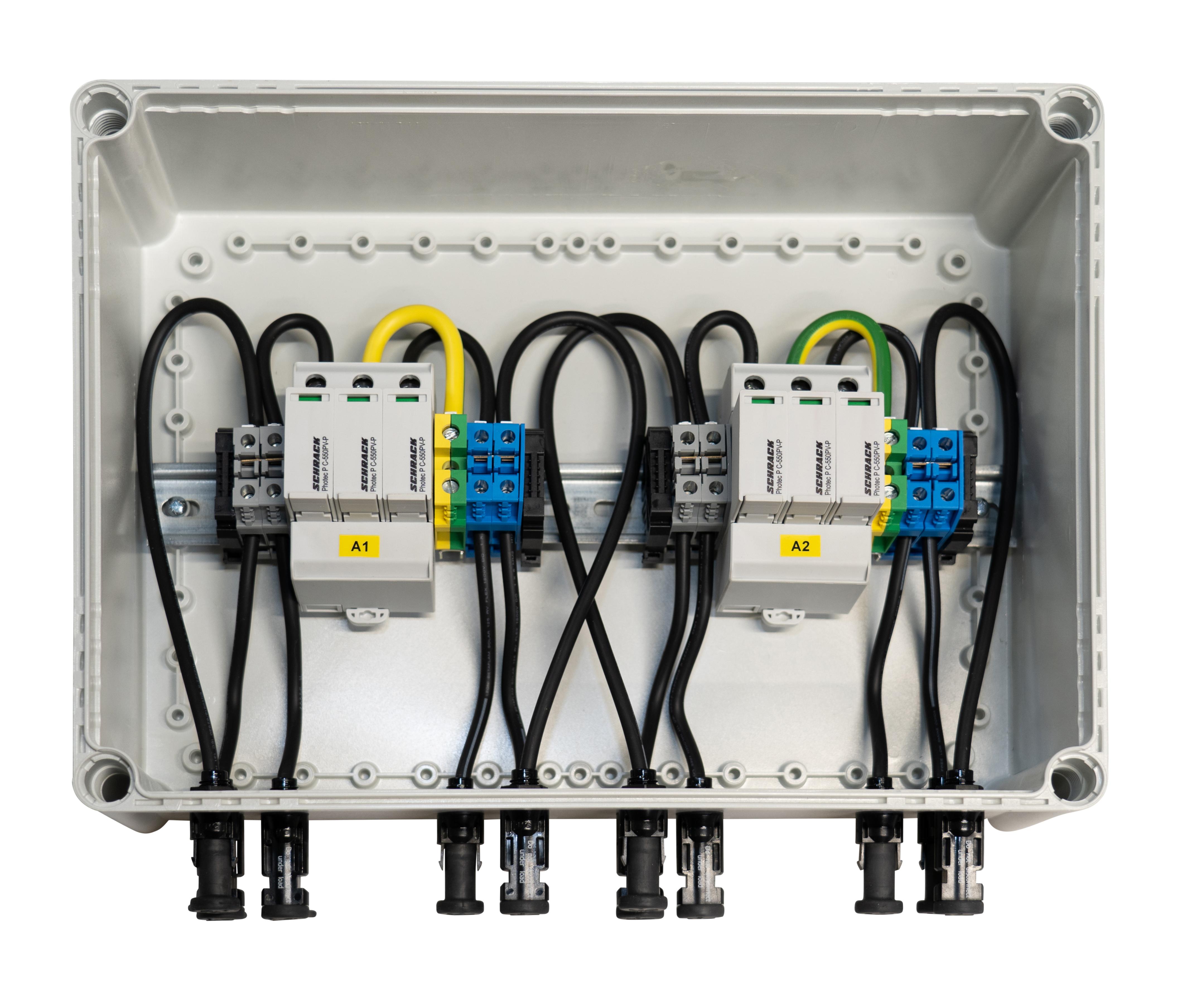 1 Stk PV-Überspannungsableiterbox für 2 Mpp Tracker, 1000Vdc PVP15002--