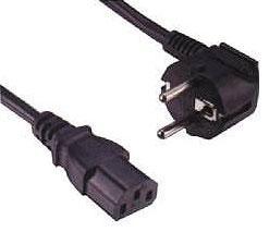 1 Stk Netzkabel Schuko - C13 (Kaltgeräte), schwarz, 3m Q7130059--