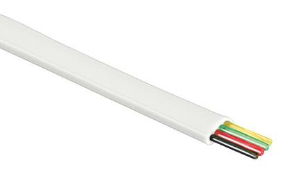 1 Stk Modularflachleitung 4polig weiß für Telefon-Patchkabel 100m Q7150293--