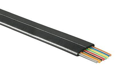 1 Stk Modularflachleitung 8pol.schwarz für Telefon-Patchkabel 100m Q7150671--