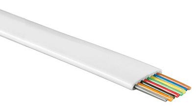 1 Stk Modularflachleitung 8polig weiß für Telefon-Patchkabel 100m Q7150672--