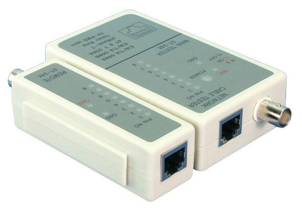 1 Stk Netzwerk Tester, BNC / RJ45, mit Remote und Tasche Q7151300--