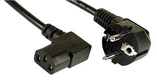 1 Stk Netzkabel Schuko - C13 (Kaltgeräte) 90°, schwarz, 5m Q7170732--