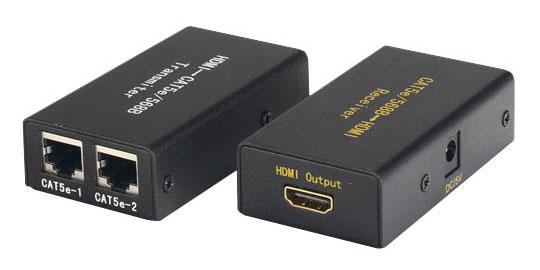 1 Stk HDMI Extender HDMI-A über Cat.5e/6 >30m (2xRJ45),HDMI 1.3b Q7171199--