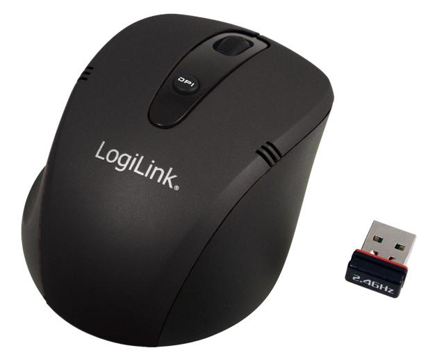 1 Stk Maus Mini, Wireless, Schwarz, 1000/1600dpi, 3 Tasten Q7172909--