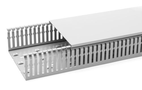 1 m Verdrahtungskanal 120x80mm (BxH) Pb-Frei, RAL 7030 RH229236--