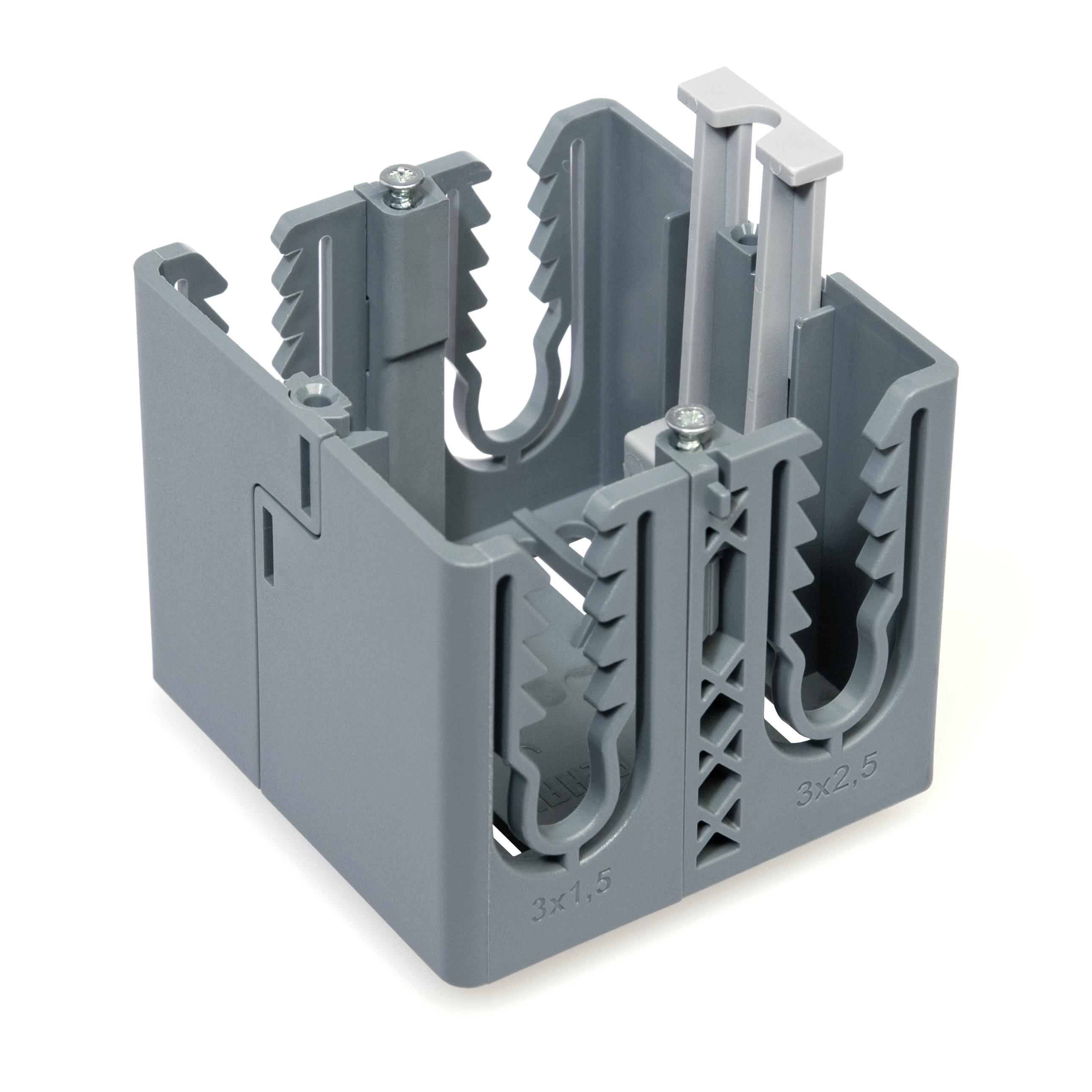 1 Stk Geräteeinbaudose für Brüstungskanal Signa Base, grau RH701003--