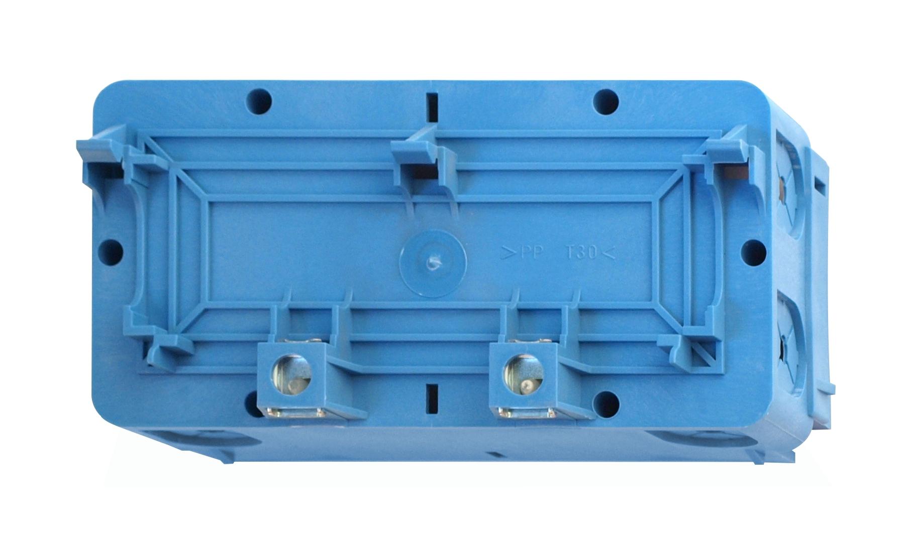 1 Stk Doppelgeräteeinbaudose Signo blau RH727771--