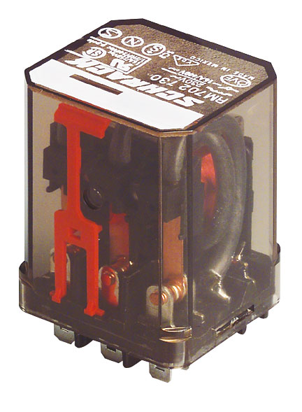 1 Stk Leistungsrelais, 2 Wechsler, 16A, 24VDC, Faston 187 RM232024-D