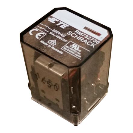 1 Stk Leistungsrelais, 3 Wechsler, 16A, 230VAC, Faston 187 RM732730--