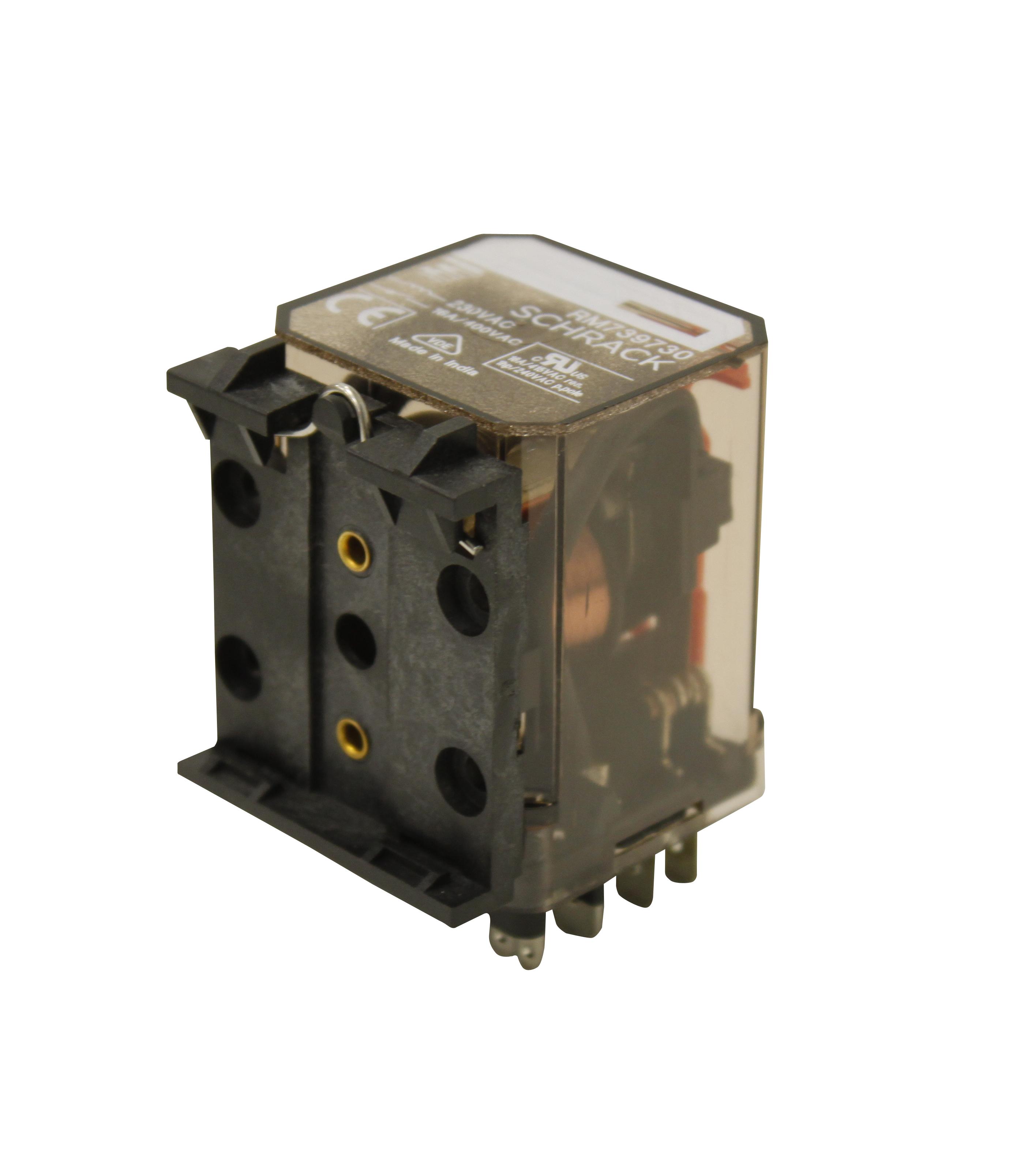 1 Stk Leistungsrelais, 3 Wechsler, 16A, 230VAC, Faston250, liegend RM7397305E