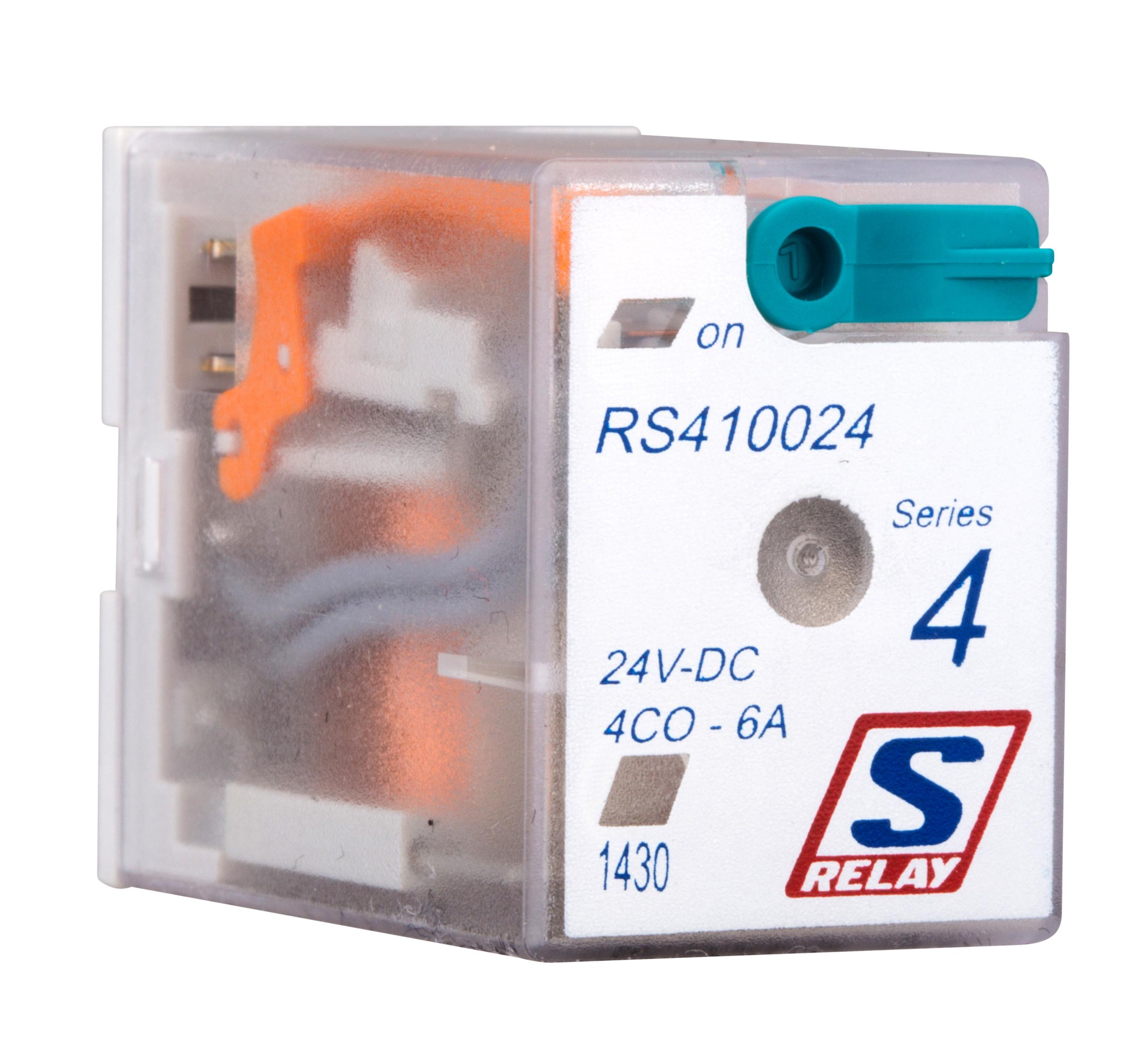 1 Stk Miniatur-Relais, 4 Wechsler, 6A, 24VDC, S-Relay Serie 4 RS410024--