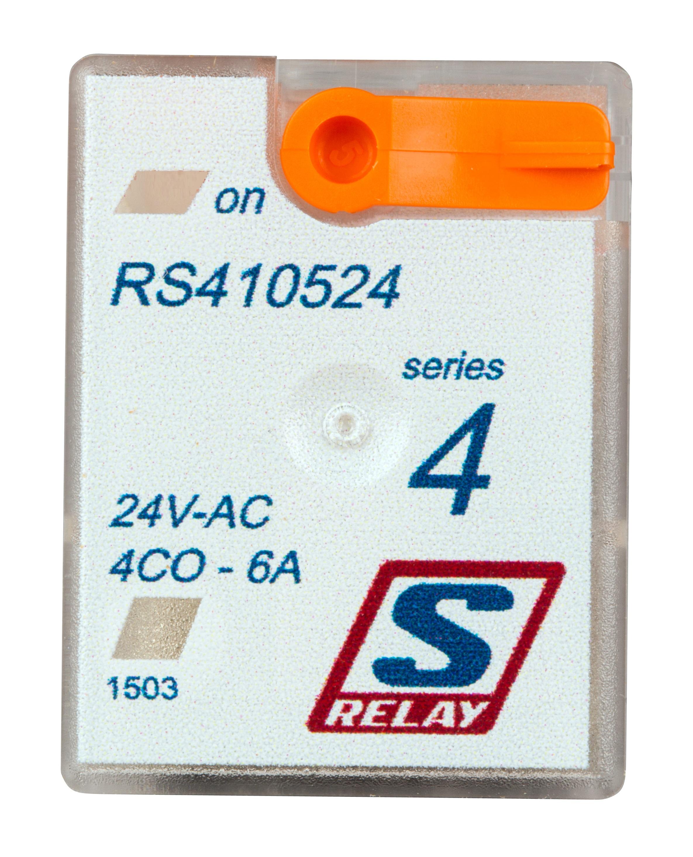 1 Stk Miniatur-Relais, 4 Wechsler, 6A, 24VAC, S-Relay Serie 4 RS410524--
