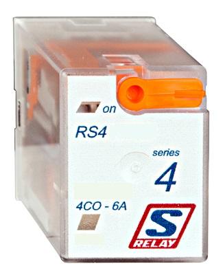 1 Stk Miniatur-Relais, 4 Wechsler, 6A, 24VAC, S-Relay RS4 mit LED RS410R24--