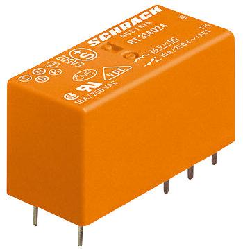 1 Stk Leistungs-Printrelais, 2 Wechsler, 8A, 24VDC, 5mm, bistabil RT424A24--