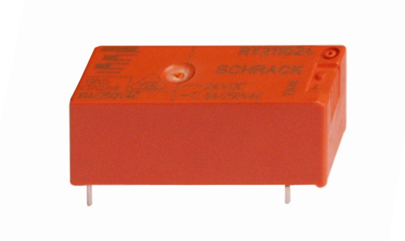 1 Stk RY-Printrelais, 1 Wechsler, 8A, 24VDC, Pinning 3,2mm, Ag RY211024--
