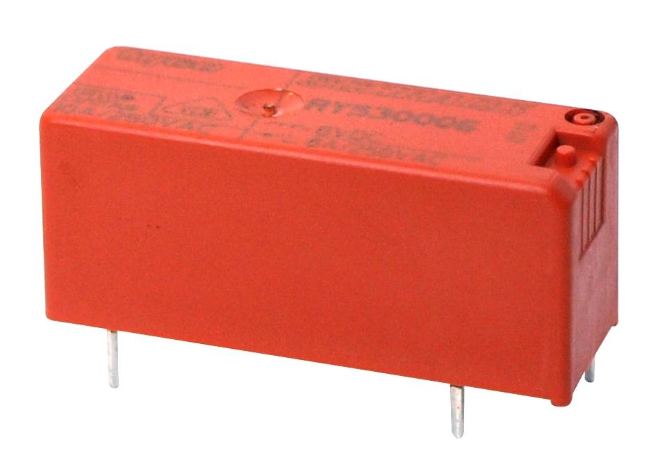 1 Stk RY-Printrelais, 1 Schließer, 8A, 12VDC, Pinning 5,0mm RY530012--