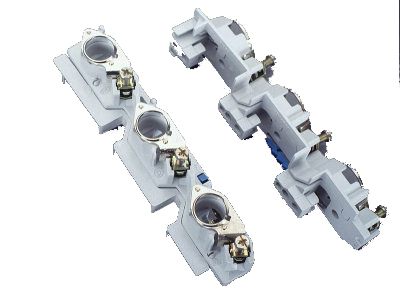 1 Stk D0-Reitersicherungssockel E18, 63A/400V mit Distanzstreifen SI014980--