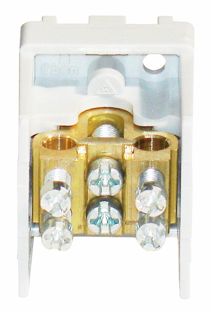 1 Stk Hauptklemme blank 25mm², 1-polig, 1x2x16mm² SI022250--
