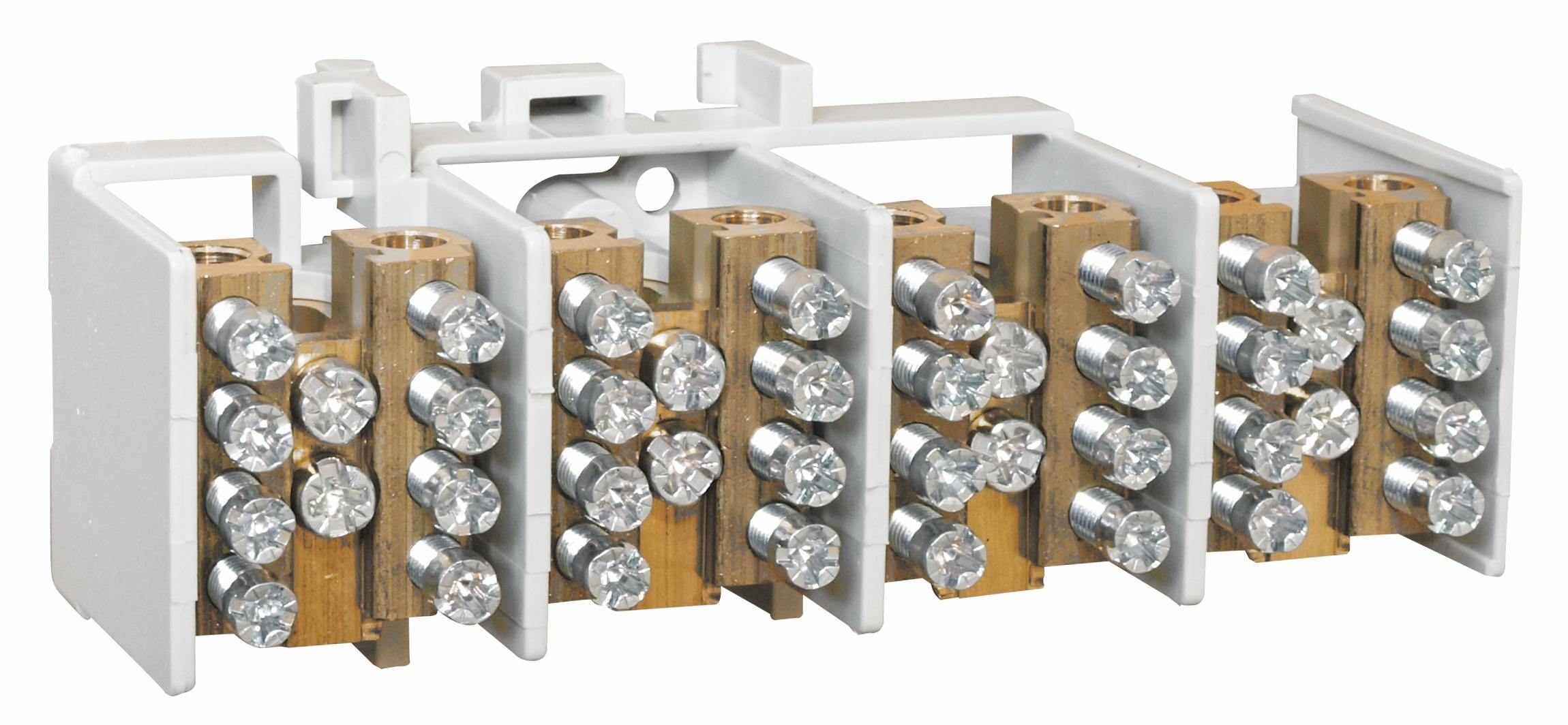 1 Stk Hauptklemme blank 25mm², 4-polig, 4x4x16mm² SI022330--
