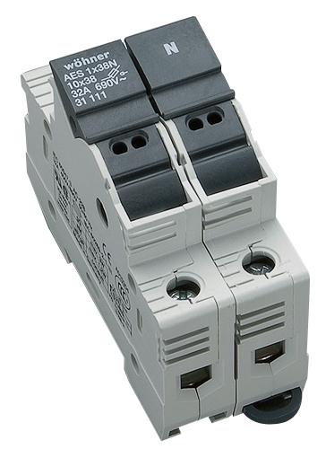 1 Stk Halter für zylindrische Sicherungen 32A 690V 1-polig+N SI311110--