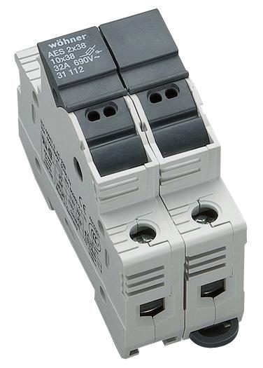 1 Stk Halter für zylindrische Sicherungen 32A 690V 2-polig SI311120--