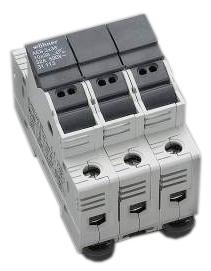 1 Stk Halter für zylindrische Sicherungen 50A 690V 3-polig SI311180--