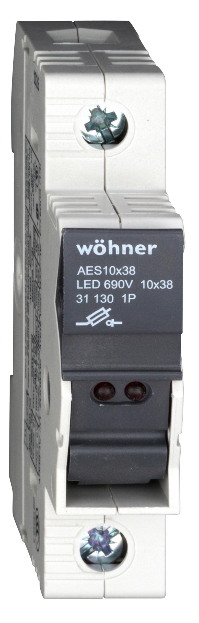 1 Stk Halter für zylindrische Sicherungen mit LED 1-polig SI311300--