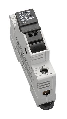 1 Stk Halter für zylindrische Sicherungen 32A, 1-polig, 690V SI312750--
