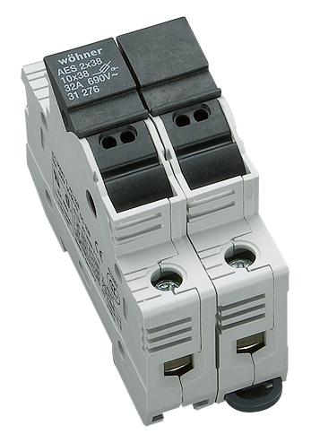 1 Stk Halter für zylindrische Sicherungen 32A, 2-polig, 690V SI312760--