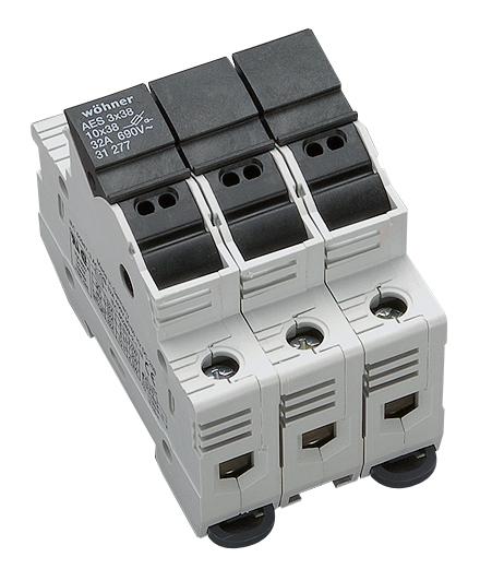 1 Stk Halter für zylindrische Sicherungen 32A, 3-polig, 690V SI312770--