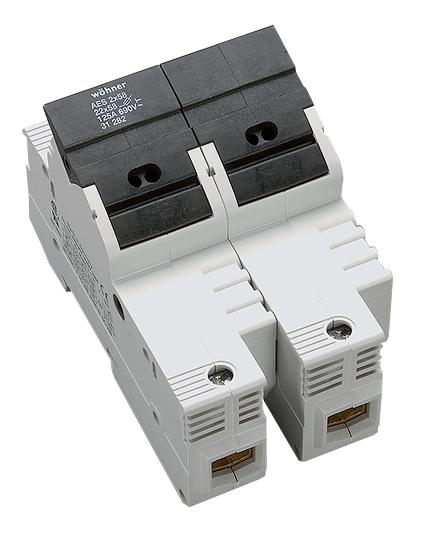 1 Stk Halter für zylindrische Sicherungen 125A, 2-polig, 690V SI312820--