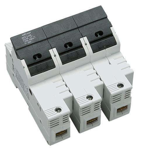 1 Stk Halter für zylindrische Sicherungen 100A, 3-polig, 690V SI312830--
