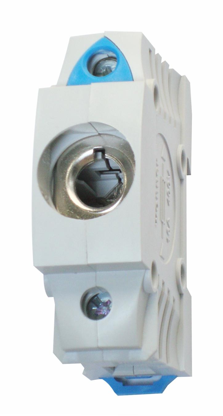 1 Stk D0-Einbau-Sicherungssockel D01, 1-polig, BGV A3, schnappbar SI312860--